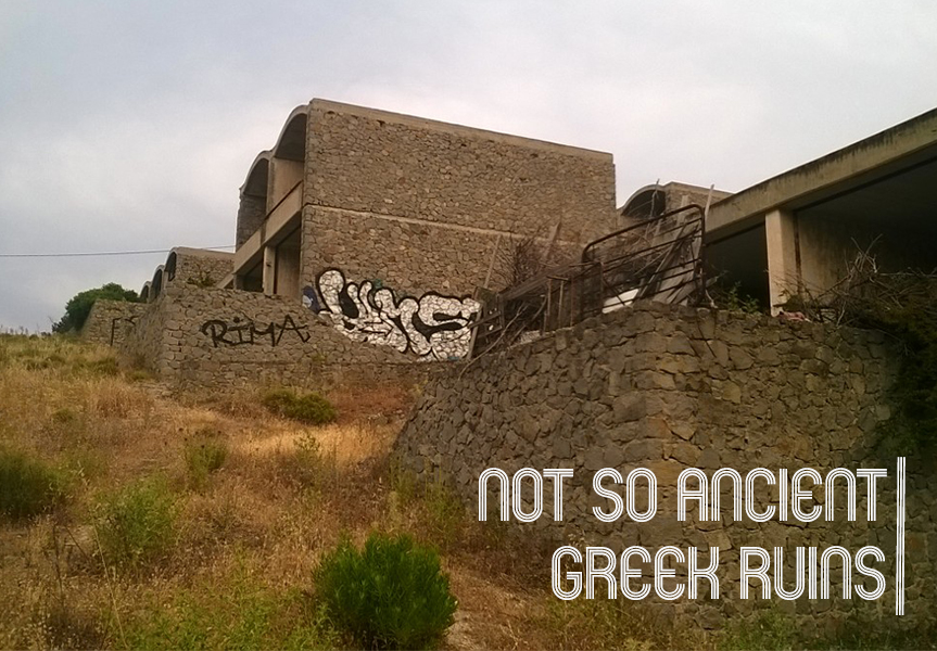 On a tiny Greek island there is a huge abandoned hotel… and it's amazing.