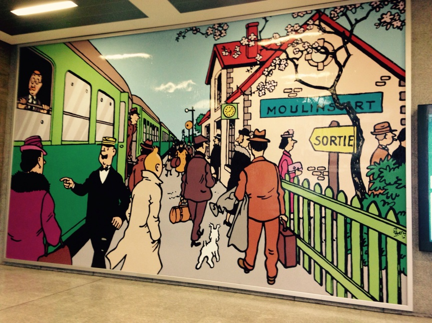 Tin Tin, around Brussels…