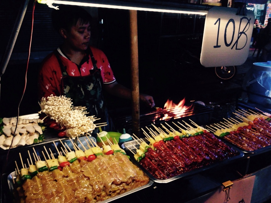 Street food, our first Thai taste…