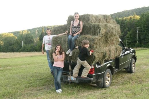 Making hay in Cape Breton, credit Brooke Oland