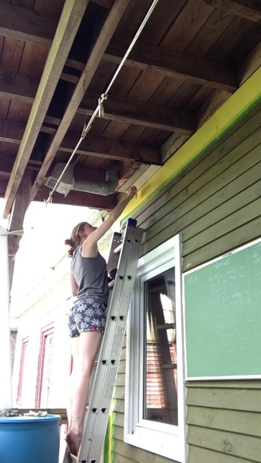 Painting someone's house in Halifax, Nova Scotia