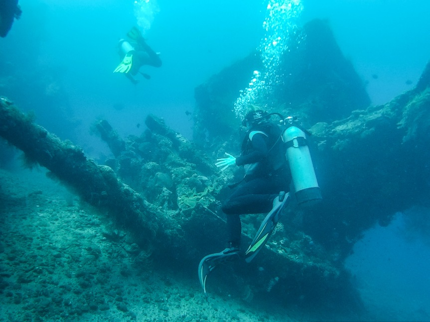 Diving in Bali, the USS Liberty