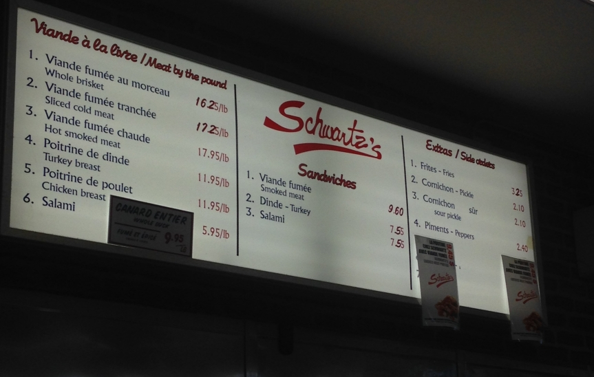 Schwartz, the best sandwich in Montreal!