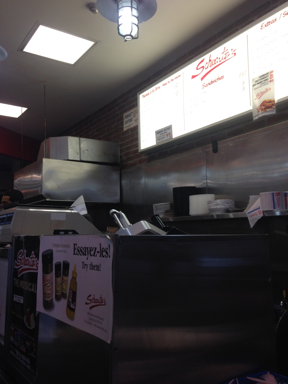 The takeout counter