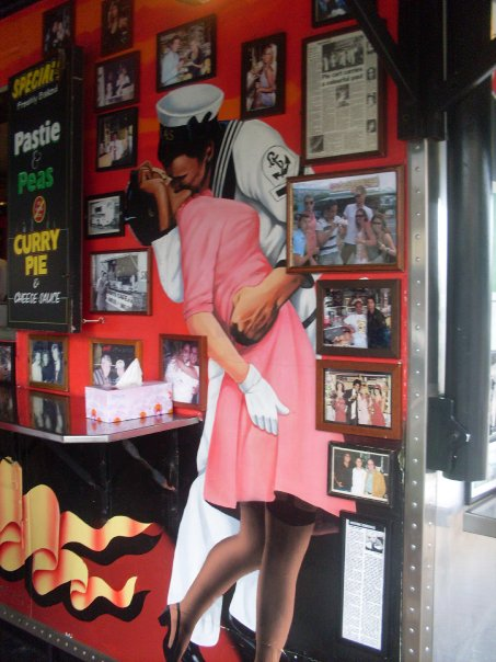 Decor at Harry's Cafe De Wheels