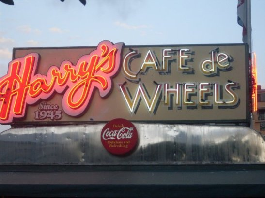 Harry's Cafe De Wheels sign