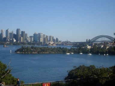 Sydney Harbour and the bridge
